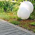LED Solarkugel - opalweiß - Ø 20cm / 30cm - 4 lichtstarke LEDs