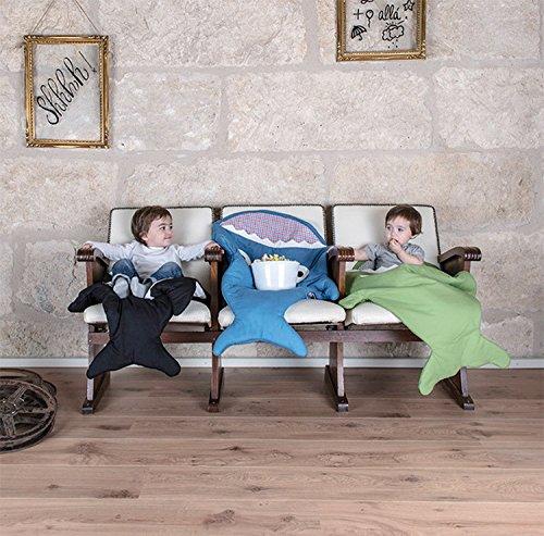 Dorapocket Baby Karikatur Haifisch Bissen Baumwoll Bunting Schlafsack Säuglingssäcke Swaddling Decke Fußbindende Steppdecke,Rot