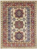 Nain Trading Kazak 201x155 Orientteppich Teppich Dunkelgrau/Dunkelbraun Handgeknüpft Afghanistan