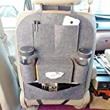#10: ShopAIS Car Backseat Storage Bag Functional Organizer 6 Pocket - Grey