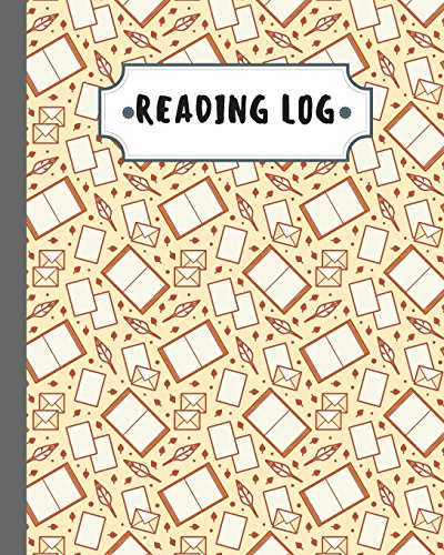 reading-log-reading-journal-gifts-for-book-lovers-106-pages-yellow-book-pattern-cover-large-8x10-100