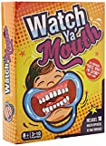 Card Boy Watch Ya' Mouth Game Cards, Mouth Guard Party Game Cards for Fun Speaking Game among Friends and Families with 10 Mouthpieces & 200 Double-Sided Cards & 1 Sandglass Timer (Family Edition)