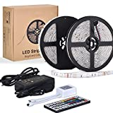 10m LED Ruban 5050 RGB 300 leds IP65 Étanche, ESEYE Kit...