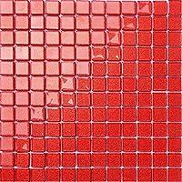 1qm Rot mit glitzer Glas Mosaik Fliesen Matten (MT0128 m2)