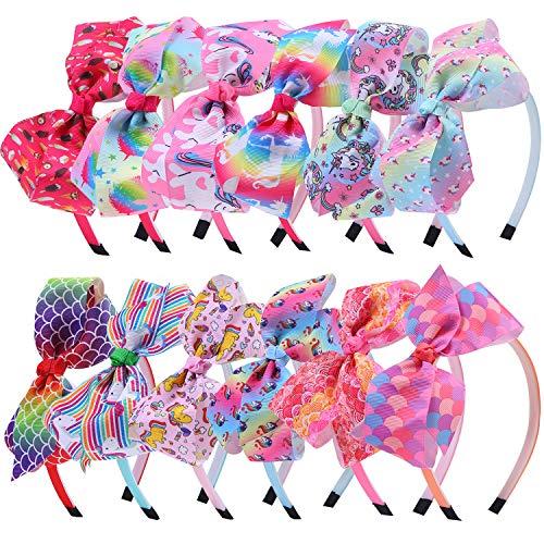 Elcoho 12 Styles Unicorn Bow Hea...