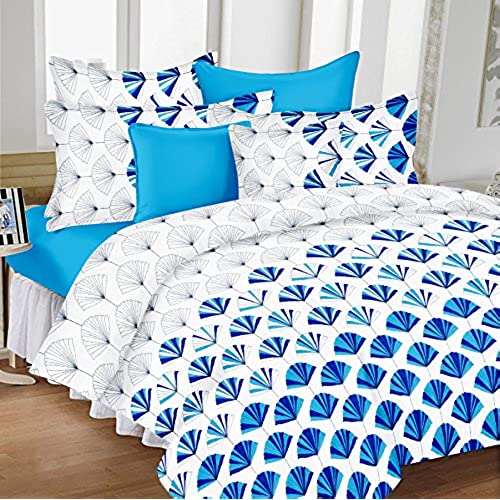 Ordinaire Ahmedabad Cotton Comfort Cotton King Size Bedsheet With 2 Pillow Covers  (9ft X 9ft)