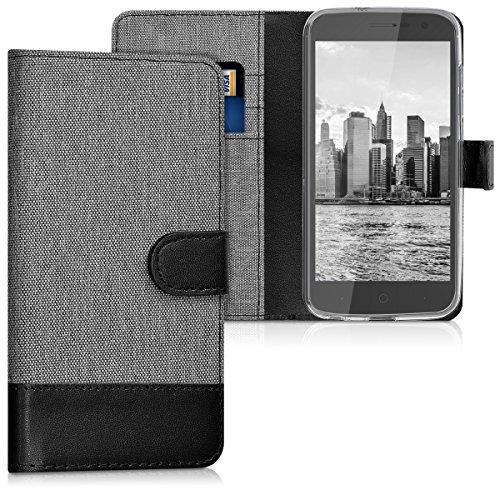kwmobile ZTE Blade V8 Lite Hülle - Kunstleder Wallet Case für ZTE Blade V8 Lite mit Kartenfächern und Stand