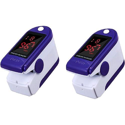 Anself - 2 misuratori di frequenza cardiaca, portatile, schermo TFT/LED, passate automaticamente in modalità sleep in 5S, 2 o 4 direzioni di visualizzazione