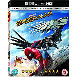 Spider-Man Homecoming [4K UHD + Blu-ray + Comic] [2017]