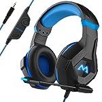 Mpow EG9 Casque Gaming PS4, Casque Gamer avec Lumière LED RGB, Son Surround, Casque Gaming PC avec Microphone à Réduction...