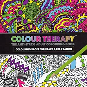 Colour Therapy Adult Colouring Book Anti Stress Zen Garden Calm Art