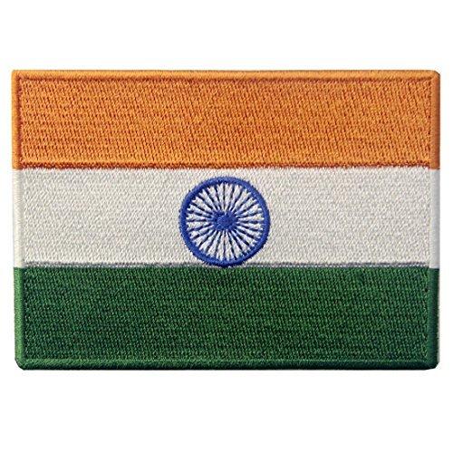 Männer Kostüm Indien - Indien Flagge Fahne gestickte Emblem indischen Eisen auf Sew auf National Patch