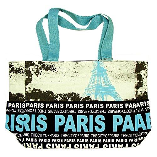 Robin Ruth - Sac Shopping Paris 'Tour Eiffel' - Noir, Bleu