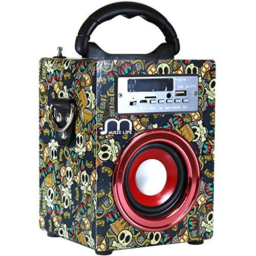 Altavoz Portátil con USB Bluetooth Radio FM Inalámbrico Tarjeta TF Recargable euipo de sonido Ideal para fiesta