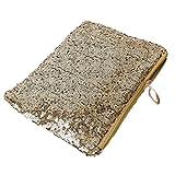 Driverder Modische Abend Party Luxus Glitzer Pailletten Handtasche Hand Tasche, goldfarben, 25*16*6cm