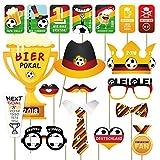 int!rend Fotomasken für fußballbegeisterte Deutschland Fans I für die WM I 19 Teiliges Set für Tolle Fußball Fotos I Fanartikel I 2018