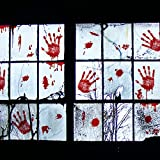 Missley Bloody Handprint Horror Adesivi PVC Stickers per decorazioni di Halloween (Finger)