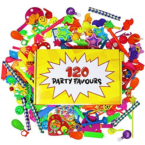 120 Giocattoli di alta qualità - Assortimento enorme - Perfetti come regalini da festa, pentolaccia, premi di carnevale, ricompense di classe e altro - bambini fine compleanno piccoli bomboniere
