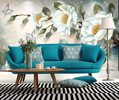 WH-PORP Custom Any Size Wall 3D tapete Modern Fashion Hand-Painted Oil Painting Peony Flowers-300cmX210cm