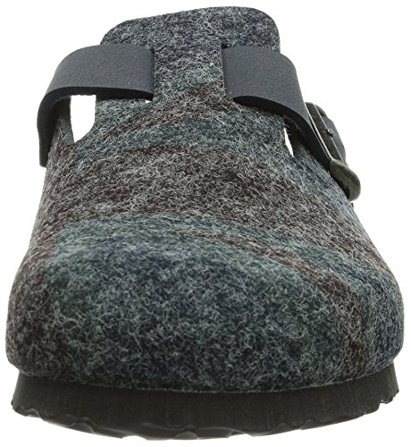 Birki Boston Unisex-Erwachsene Clogs Grau (Gray Print Union Jack)