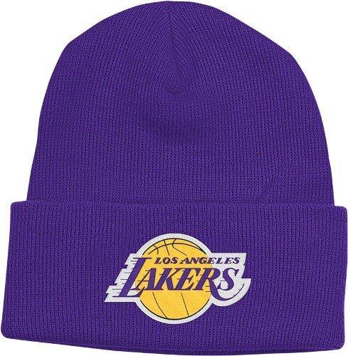 adidas NBA Herren Los Angeles Lakers Cuffed Knit Beanie Hat, Unisex Damen Jungen Herren, Violett, Einheitsgröße (Beanie Lakers)