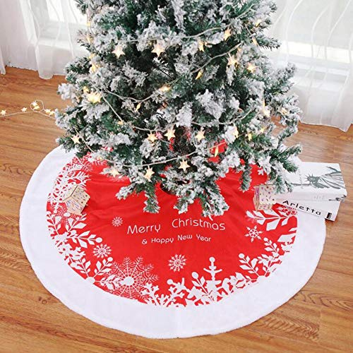 Kingsley Falda de árbol de Navidad, Falda de Terciopelo Mercerizado de Felpa Grande de 48 Pulgadas...