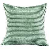 LuckyGirls Plüsch Kissenhülle Sofa Kissenbezug Größen 45 x 45 cm, Pillowcase Home Decor (Grün)