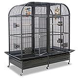 Montana Cages ® | Voliere XXL, Käfig XXL, Sittichkäfig XXL Palace II in Hammerschlag mit Trennwand