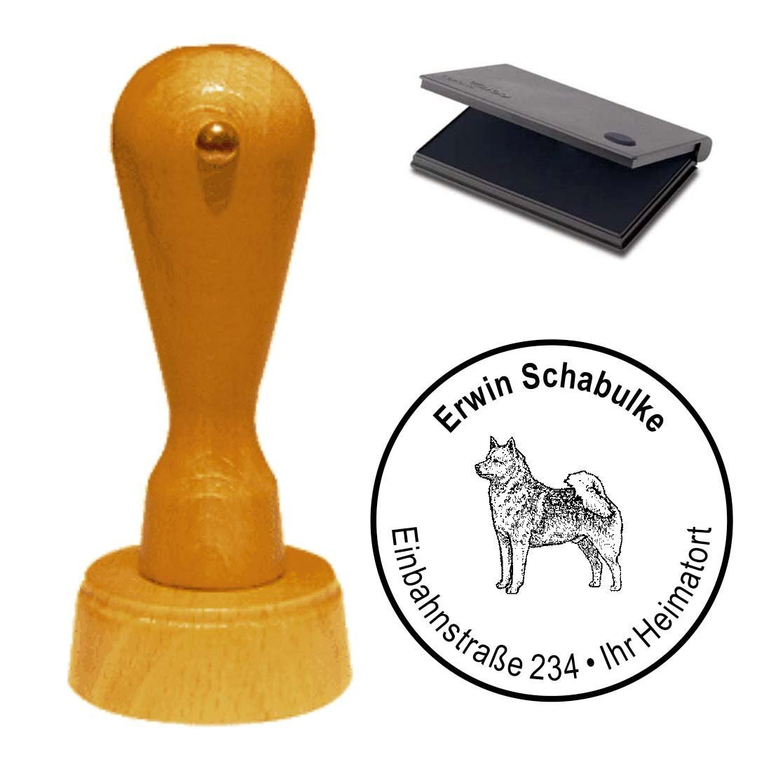 "Stamp with Cushion '""Finnish Spitz Dog Pet Finnish Spitz"