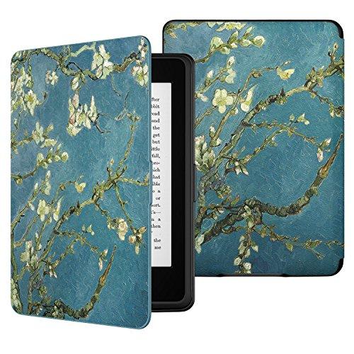 MoKo Kindle Paperwhite Funda - Ultra Slim Ligera Smart Shell Case Cover con Auto Estela/Sueño - Bloom de Albaricoque