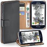 Samsung Galaxy S3 Mini Hülle Dunkel-Grau mit Karten-Fach [OneFlow 360° Book Klapp-Hülle] Handytasche Kunst-Leder Handyhülle für Samsung Galaxy S3 Mini S III Case Flip Cover Schutzhülle Tasche