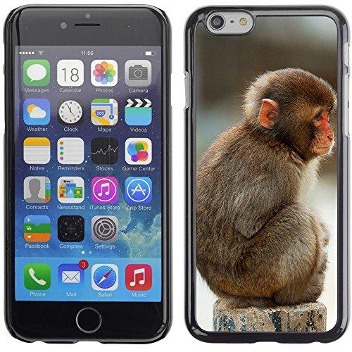 Graphic4You Lustig Niedlich Affe Tier Design Harte Hülle Case Tasche Schutzhülle für Apple iPhone 6 Plus / 6S Plus Design #2