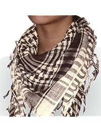 niki-orange® Pali Schal, Tuch, Palästinenserschal, Arafat, in Beige/Braun