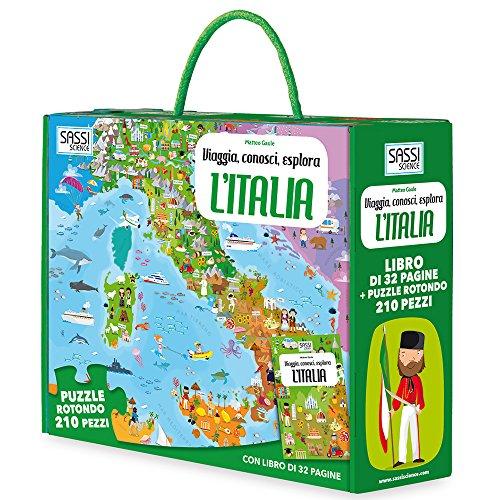 L'Italia. Viaggia, conosci, esplora. Libro puzzle