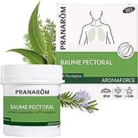 Pranarôm | Aromaforce | Baume Pectoral Bio (Eco) aux Huiles Essentielles biologiques | Effet Chauffant | 80 ml