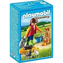 Playmobil - Mujer con familia de gatos (61390)