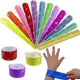 German Trendseller® - 12 x bracelets à claquer colorés┃petit cadeau ┃ l'anniversaire d'enfant┃ mélange de couleurs