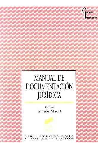 Manual De Documentación Jurídica