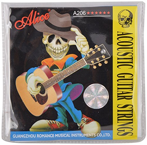 Alice A206 Phosphor Bronze Guitar Strings  available at amazon for Rs.132