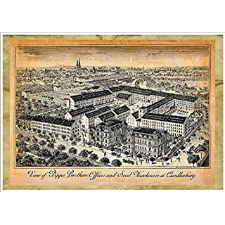 View Of Dippe Brothers' Offices And Seed Warehouses At Quedlinburg A4 Glossy Art Print Taken From A Beautifully Illustrated Vintage Seed Catalogue Or Seed Packet Cover.