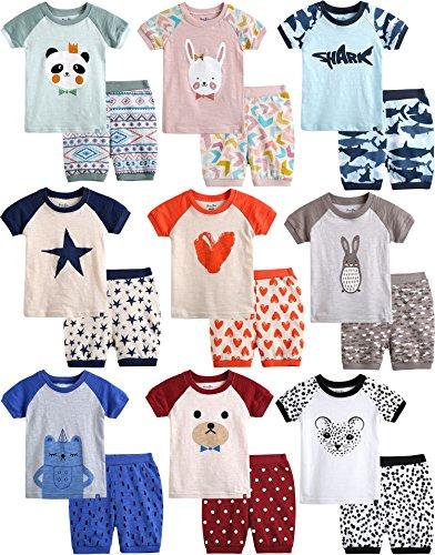 Vaenait Baby 74-120 Kinder Maedchen 2pcs Bekleidungssets Schlafanzug Black Cheetah L (Cheetah 110)