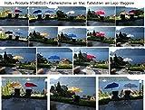SONNENSCHIRME - SET NEUHEIT - 2 TEILE REISE-SET - STABIELO Hollysunny ® STRAND und FREIZEIT - FÄCHER SONNENSCHIRM ORANGE - hoher UV Schutz - Farbe ORANGE + 110 Kilo belastbarer RELAX Faltstuhl mit hoher Rückenlehne - Farbe dunkelblau mit grünem Dekorstreifen und abnehmare Beinauflage - Trinkbecheraufnahme holly-sunshade ®