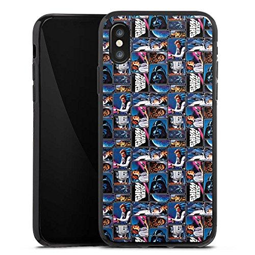 Apple iPhone X Silikon Hülle Case Schutzhülle Star Wars Fanartikel Merchandise Graphic Silikon Case schwarz