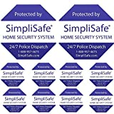 Best BRINKS Outdoor Securities - SimpliSafe 2 Home Security Yard Signs w 4 Review