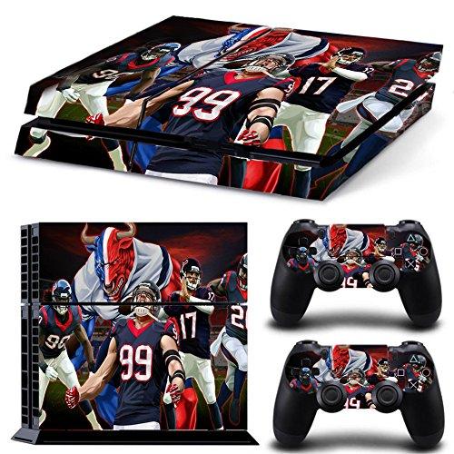 Houston FootballSony PS4 Playstation-Sticker, Aufklebermaterial aus Vinyl, Fanartikel, Sportfan (Houston Artwork)