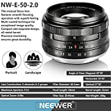 Neewer NW-E-50-2.0 50mm f/2.0 Manueller Fokus Prime - 5