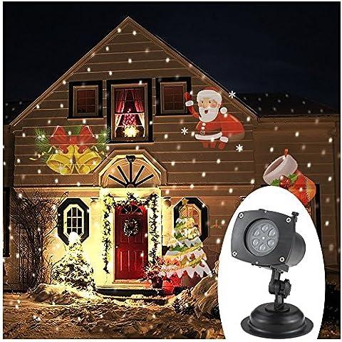 TOMSHINE Natale Pasqua LED Proiettore Lampada Rotante Luce Proiezione 12