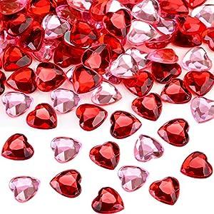 Corazón de Acrílico Rojo/Rosa para