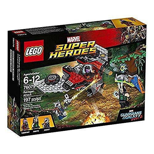 LEGO Marvel Super Heroes 76079 - Ravager-Attacke, Superhelden-Spielzeug (Lego Marvel Großen Minifiguren)