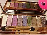 Set di trucchi JGB con palette di ombretti e pennello, con 9 colori brillanti come diamanti e glitter luminosi, edizione 6